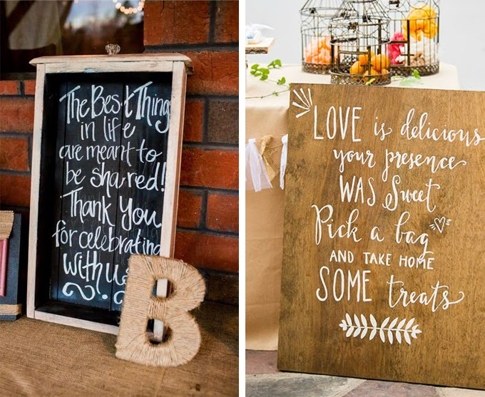 12 Delightful Ways To Use Wedding Signs Throughout Your Wedding - Thank Friends And Family For Celebrating With You