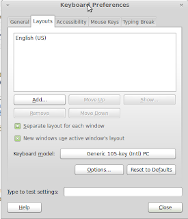 how to add language layout on panel xfce