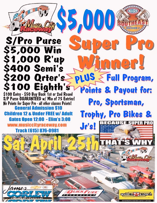 $5,000-to-Win Super Pro at Music City Raceway