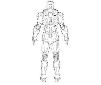 #3 Iron Man Coloring Page