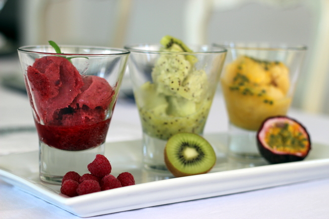 Stylish Settings: Frozen Fruit Sorbet