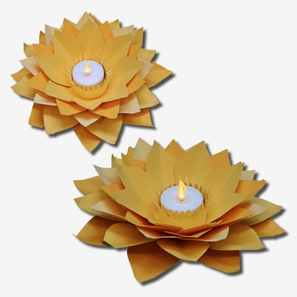 lotus flower tealight candle holder - Tea Light Candle Holders