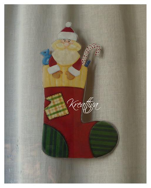 decorazione per vetro natalizie [tutorial]