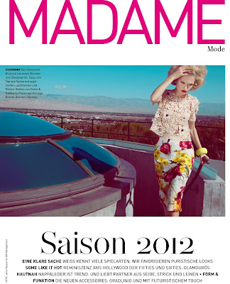 madame magazine cover, model bella barber