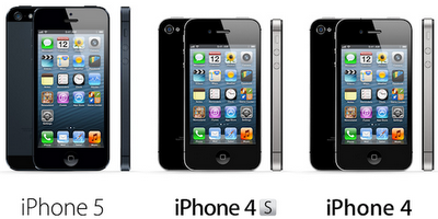 iPhone 5 Vs. iPhone 4S Vs. iPhone 4