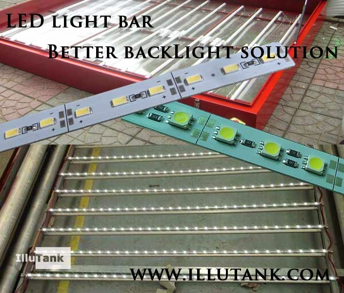 Light bar for cabinet