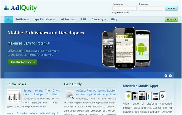AdIQuity mobile ad network