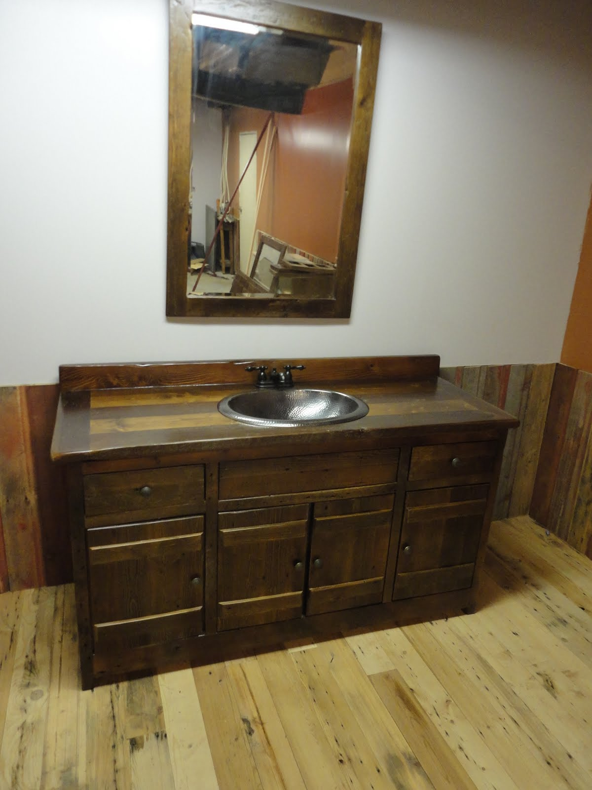 Omega cabinet company prairie barnwood bathroom vanity for Omega bathroom vanity cabinet