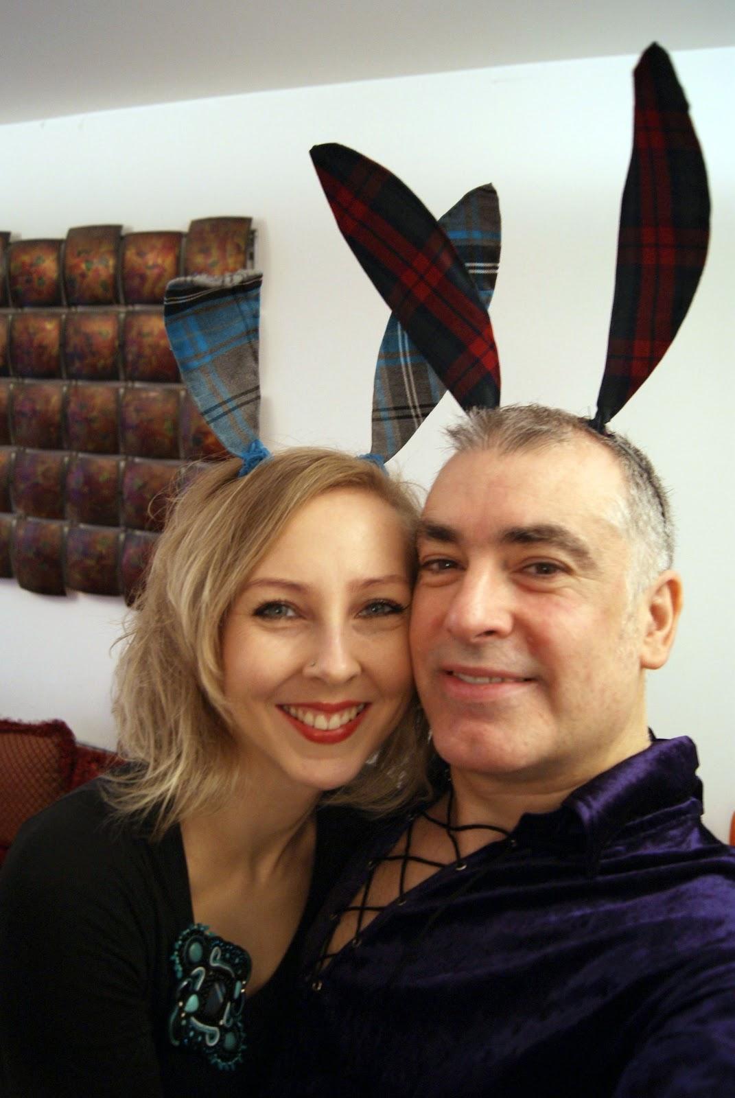 bunny ears, tartan, quirky vegans
