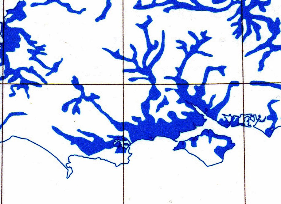 Post glacial flooding, BGS Map