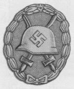 Wound Badge, Awarded in Gold, Silver, and Black