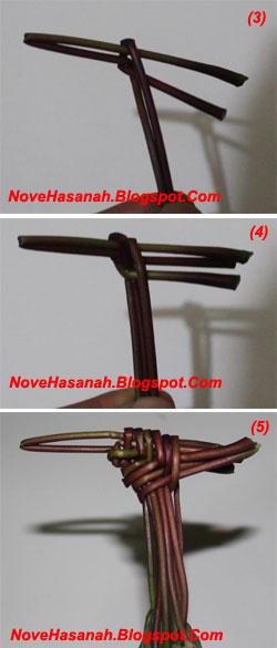 langkah-langkah cara membuat mainan tradisional anak berupa wayang dari daun singkong 3