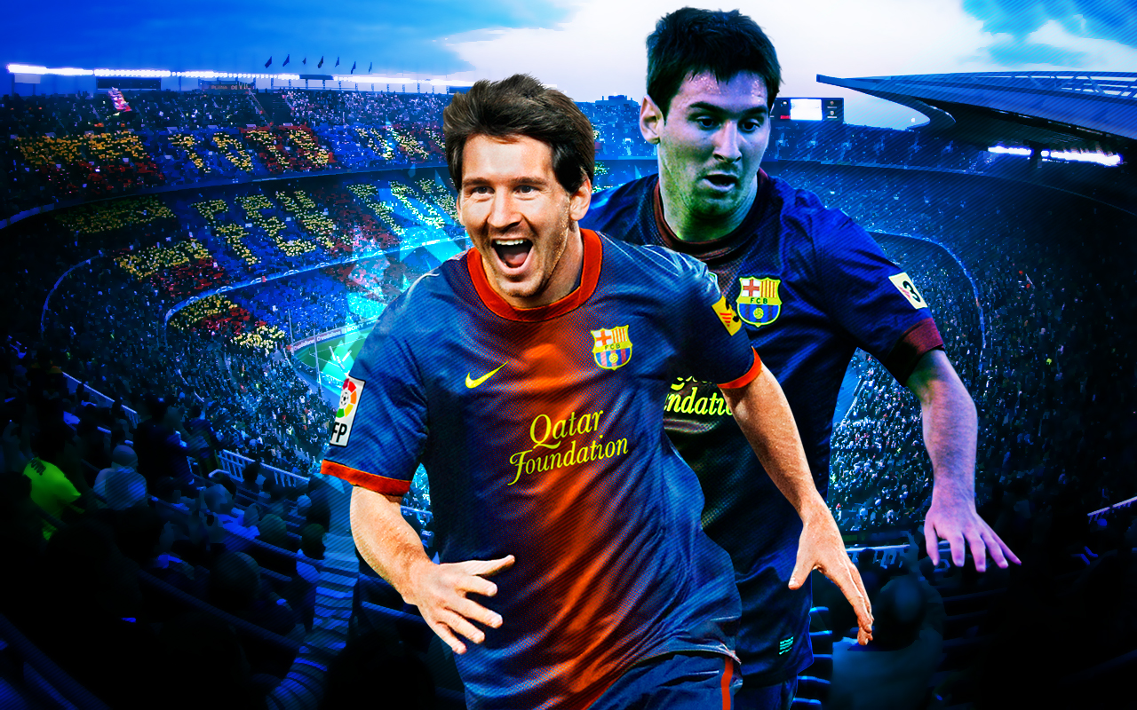 Messi   Barcelona Wallpaper 2012 2013