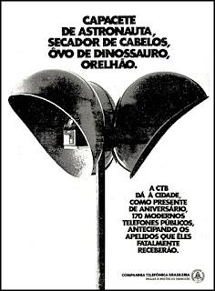 CTB - Companhia Telefônica Brasileira, orelhão, telefone, 1972; os anos 70; propaganda na década de 70; Brazil in the 70s, história anos 70; Oswaldo Hernandez;