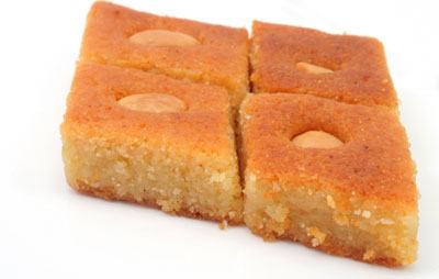 Egyptian Cake Recipe Made With Farina And Yogurt