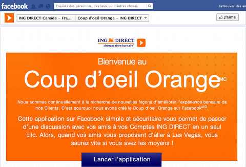Coup d'Oeil Orange sur Facebook