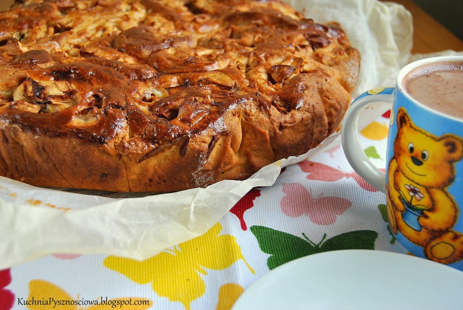 269. Brioszki z jabłkami, chociaż wyszło bardziej ciasto drożdżowe z jabłkami