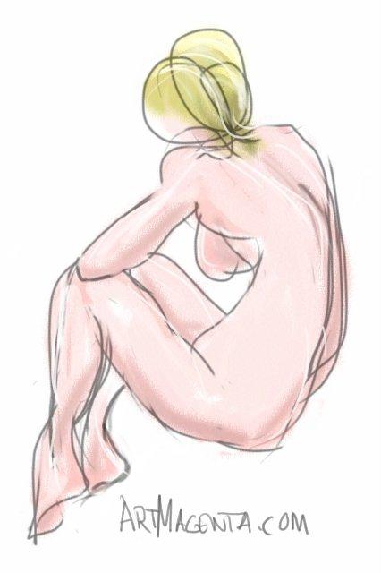 Sitting croquis posture