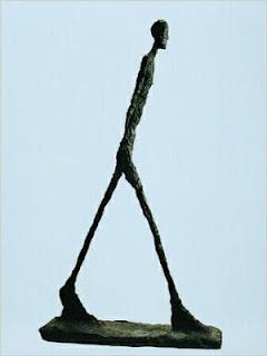El hombre que anda de Giacometti