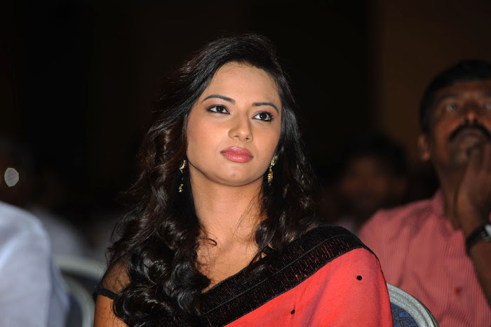 isha chawla at poola rangadu audio launch, isha chawla saree hot images