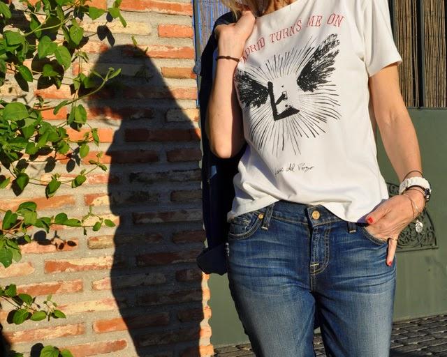 Combinar denim on denim , Paige Denim jeans, Mango shirt