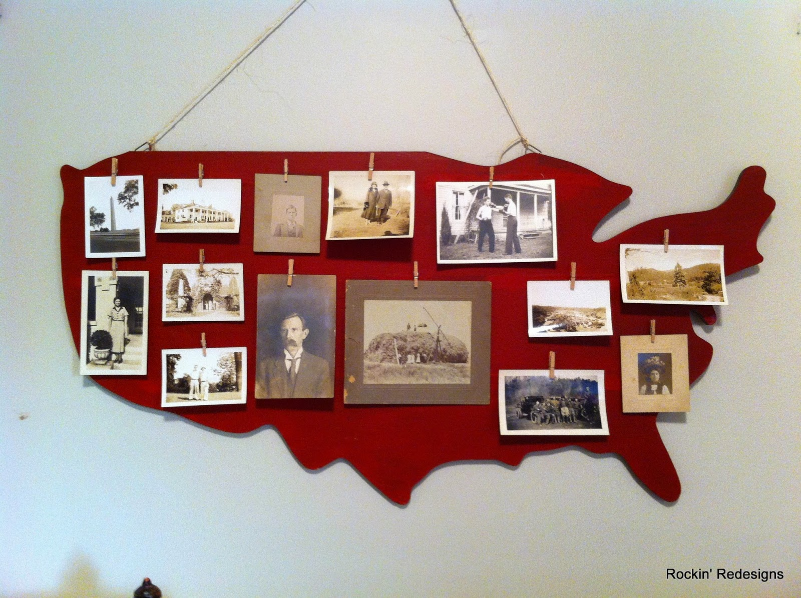 Repurposed Old Photo Display