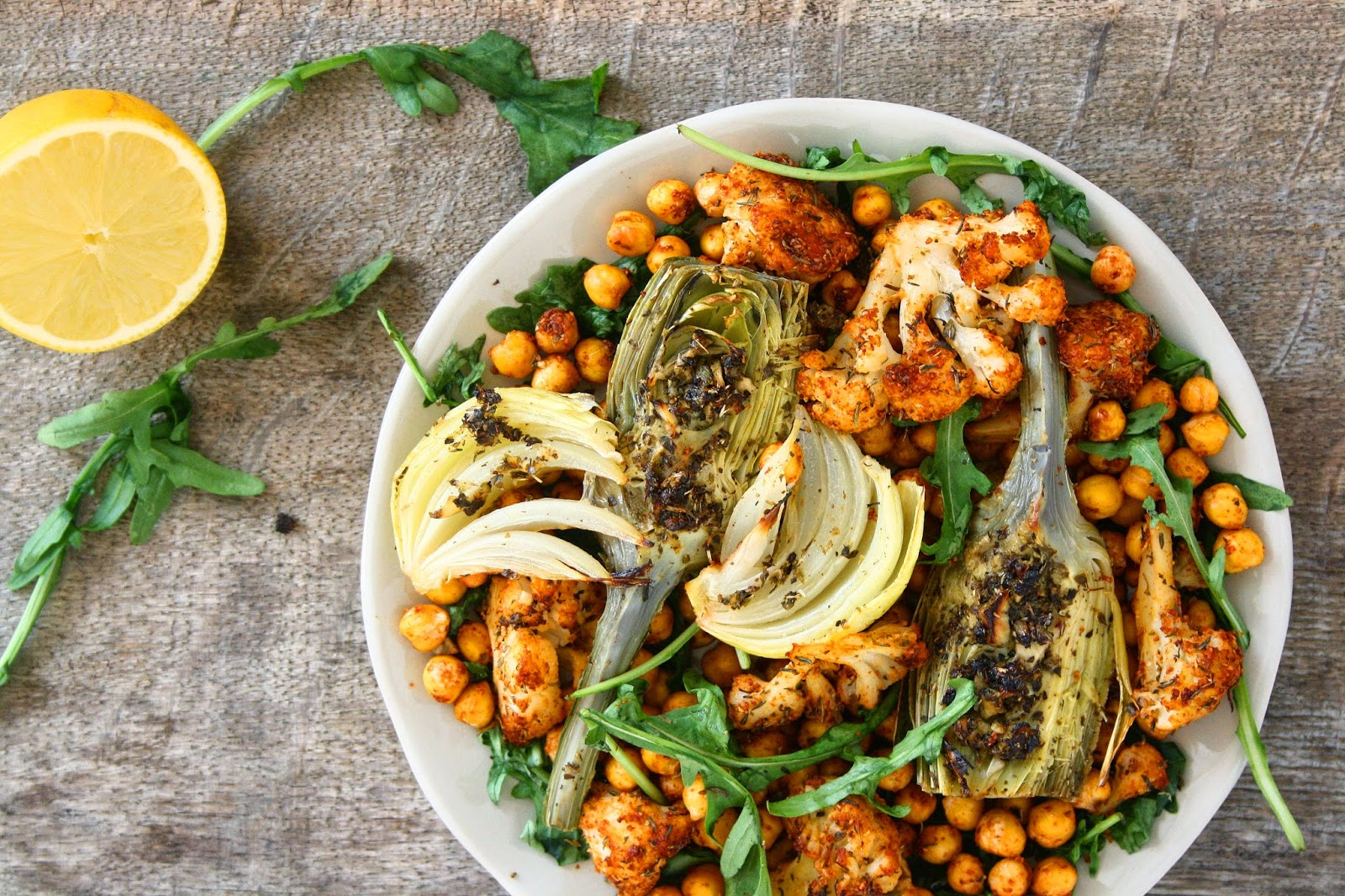 collecting memories: Garlicky Oven Roasted Vegetables & Chickpeas