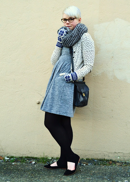 rivet & sway, spitfire, fair isle, winter, fashion, seattle, madewell dress, uniqlo