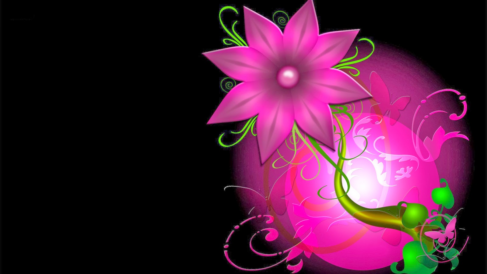flower wallpapers widescreen space - photo #9