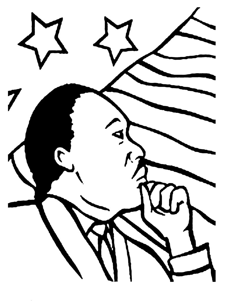 Martin luther king jr coloring pages for kids for Martin luther coloring pages