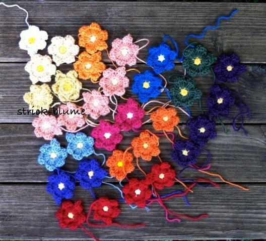 Strick-Blume 's ❀: Blumendecke, eine Geschichte . . .