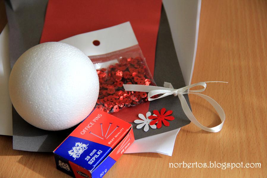 How to make Christmas tree ball materials you need
