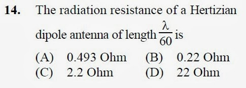 2012 December UGC NET in Electronic Science, Paper II, Questions 14