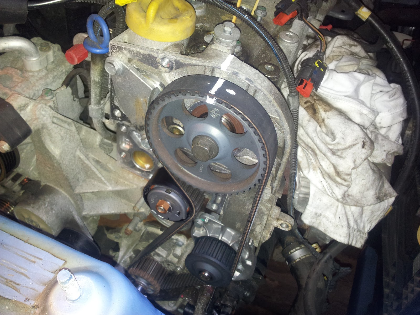 Punto Mk2b 14 16v Sporting Cambelt Timing Belt Replacement Engine Diagram The Fiat Forum