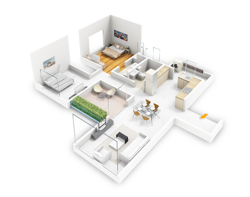 Foundation dezin decor layouts with a 3d effect Interactive home plans