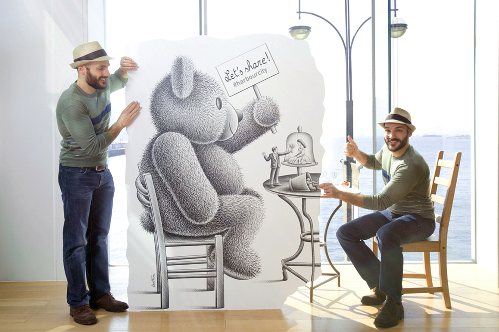 Teddy Bear Art Installation by Ben Heine in Hong Kong