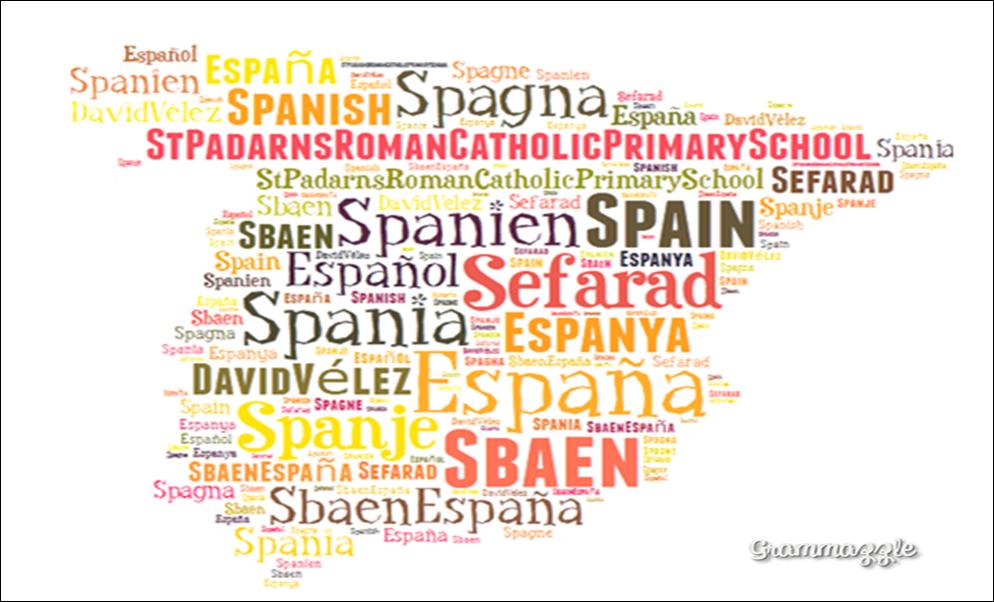 Grammazzle Español Spanish España Spain Sbaen Sefarad Espanya Spagna Spanien