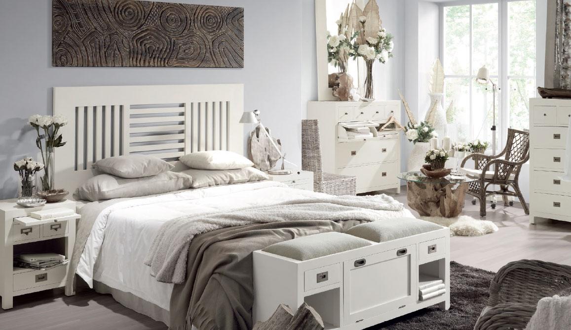 La web de la decoracion y el mueble en la red el nuevo - Dormitorio colonial blanco ...
