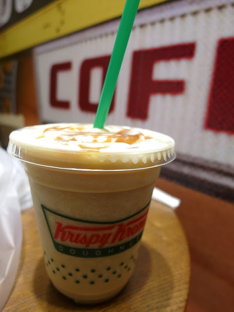 krispy kreme doughnuts caramel drink singapore tangs orchard review lunarrive