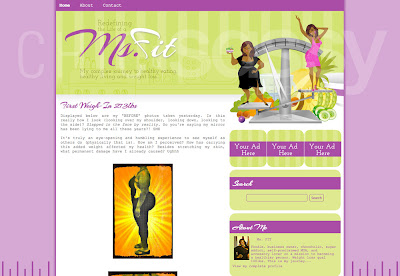 MsFit  weight loss, healthy eating template design