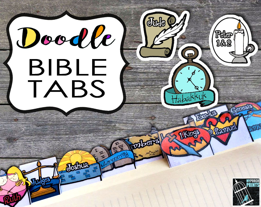 Get these whimsical tabs in my Etsy shop!