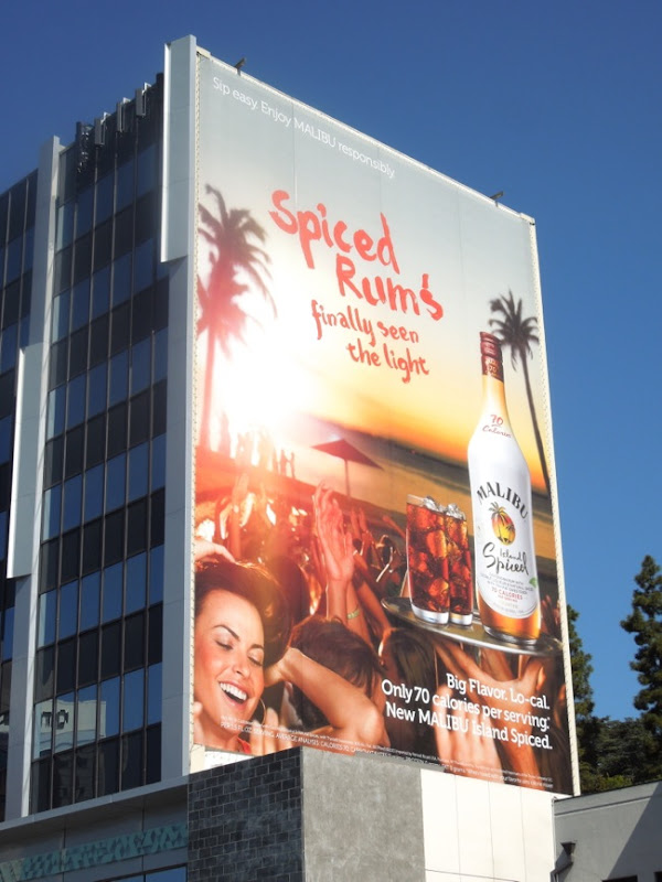 Malibu Island Spiced lo cal billboard