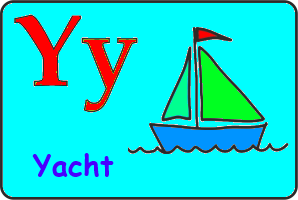 Карточка английской буквы Y