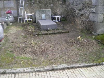 Estado actual de la tumba de MAteo Hernández