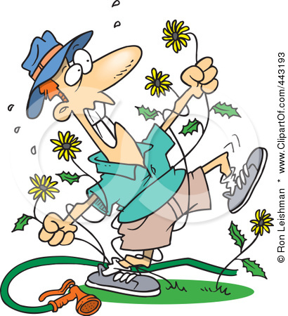Yard Work Clip Art There're a lot of dandelions