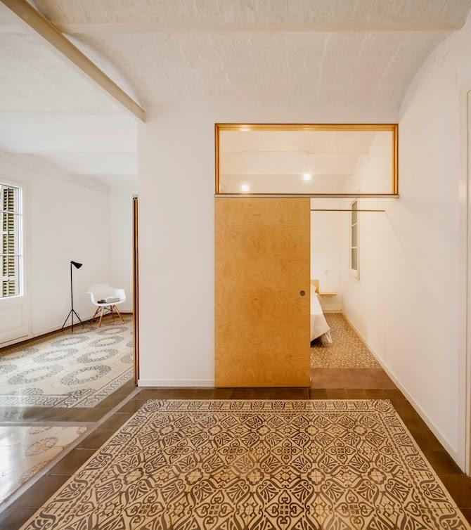 deliving design & craft: Un apartamento precioso en Barcelona