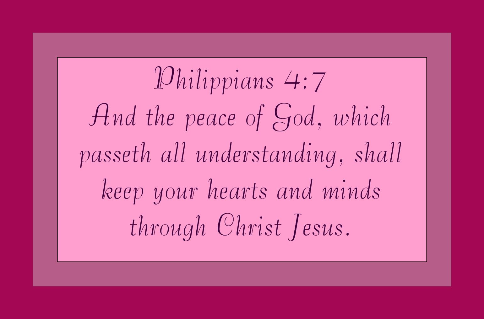Christian Images In My Treasure Box: Philippians 4:7 - Peace Of God