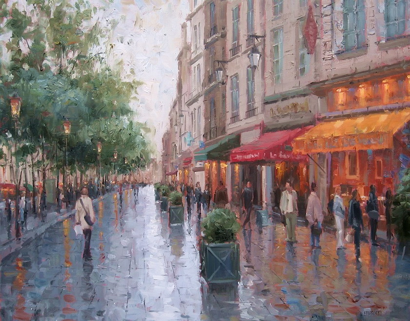Eugene Paprocki 1971 ~ American painter | The impressionist city