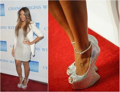 Angela Simmons heel-less shoes