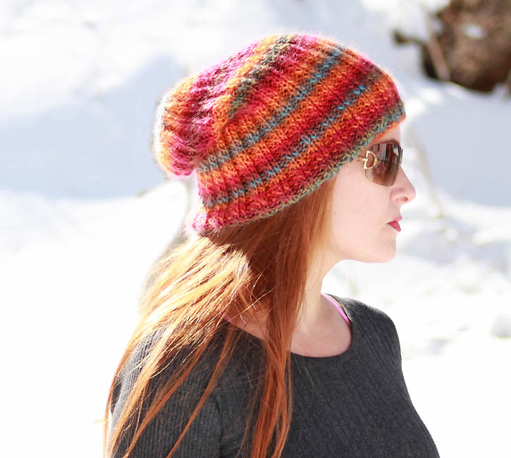 Knitting Pattern For Beanie : Sherbert Slouch Beanie [knitting pattern] - Gina Michele
